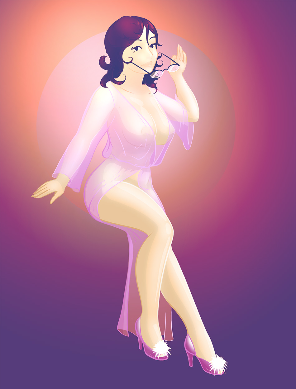 Full Figured Pin Up